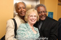 Allie Woods, a guest and Willie Dirden. Photo by Lia Chang