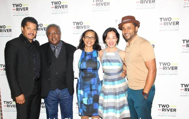 Brandon J. Dirden, Willie Dirden, Deborah Dirden, Lia Chang, Jason Dirden. Photo by Garth Kravits