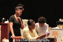 Crystal A. Dickinson, Brenda Pressley and Owen Tabaka Photo by Lia Chang