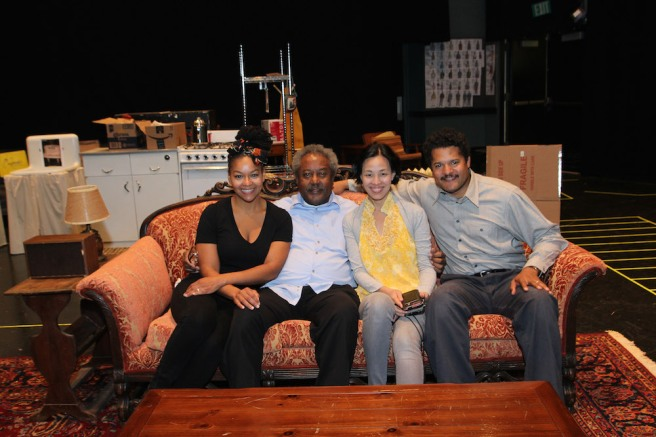 Crystal A. Dickinson, Willie Dirden, Lia Chang and Brandon J. Dirden Photo by Carl Cofield