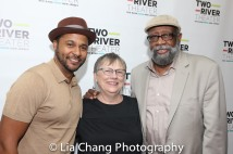 Jason Dirden, Karen Wilson and Bill Sims Jr. Photo by Lia Chang