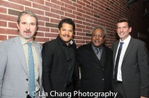 Two River Theater Artistic Director John Dias, Brandon J. Dirden, Willie Dirden and Managing Director Michael Hurst. Photo by Lia Chang