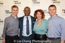 Justin Swader, Carl Cofield, Elivia Bovenzi and Christopher Swader. Photo by Lia Chang