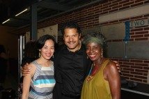 Lia Chang, Brandon J. Dirden and Marjorie Johnson. Photo by Garth Kravits