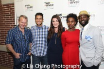 Nat DeWolf, a guest, Jenna Rocca, Joniece Abbott Pratt and Charlie Hudson III. Photo by Lia Chang