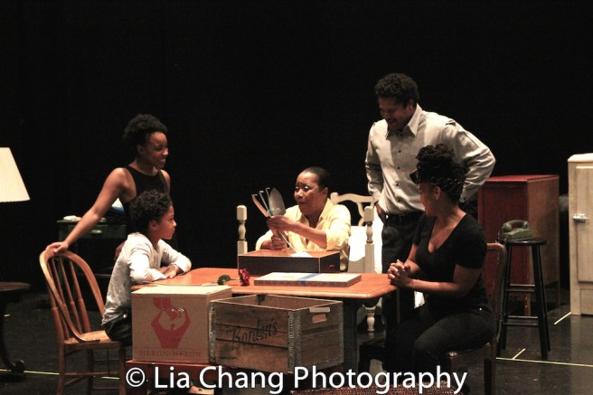 Owen Tabaka, Jasmine Batchelor, Brenda Pressley, Brandon J. Dirden and Crystal A. Dickinson Photo by Lia Chang