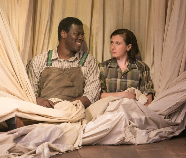 Kyle Scatliffe and Hannah Cabell in AS YOU LIKE IT. Photo by Lenny Stucker