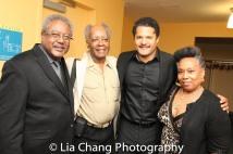 Willie Dirden, Allie Woods, Brandon J. Dirden and a guest. Photo by Lia Chang