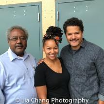 Willie Dirden, Crystal A. Dickinson and Brandon J. Dirden Photo by Lia Chang