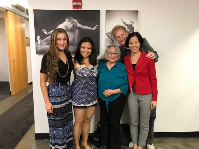 Playwright Willow Martin, Patricia Cancio, Virginia Wing, director Nick Corley and Lia Chang (not pictured Karl Josef Co).