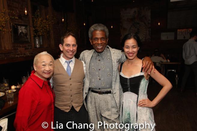 Lori Tan Chinn, Garth Kravits, André De Shields and Lia Chang. Photo by Dan Marshall