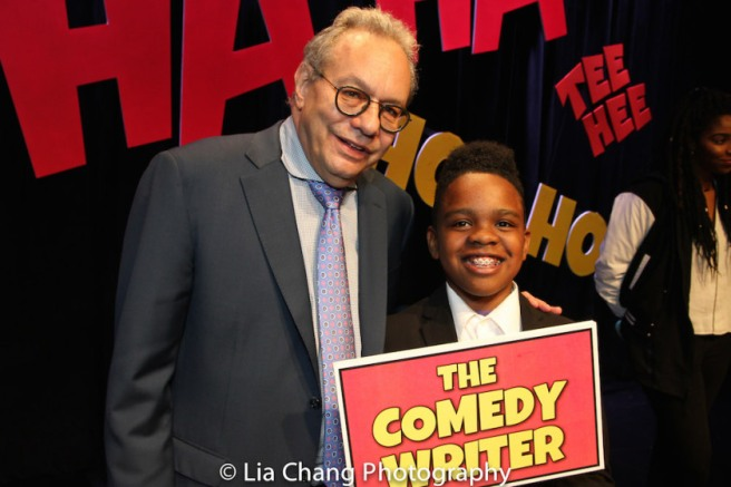 Lewis Black performed the stand-up comedy written by Project member Coleman Williams, age 11 at at The 52nd Street Project's Gala, LAUGHING MATTERS, Kids' Stand-up, Adults Deliver, held at the elegant retro Edison Ballroom on May 2, 2016. Photo by Lia Chang