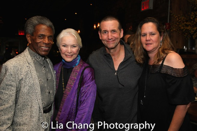 André De Shields, Ellen Burstyn, Jefferson Roberts and his wife. Photo by Lia Chang