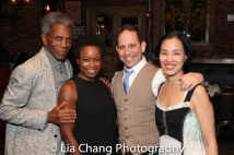 André De Shields, Quincy Tyler Bernstine, Garth Kravits and Lia Chang. Photo by Rick Hall