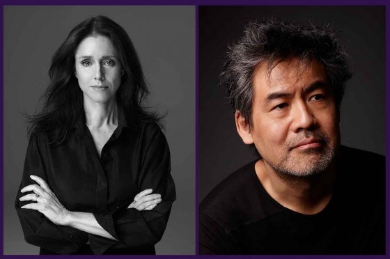 (l) Julie Taymor, photo by Marco Grob (r) David Henry Hwang, photo by Gregory Costanzo