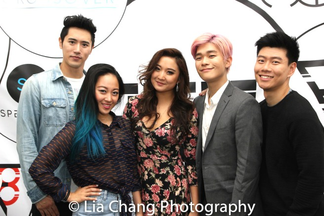 KPOP cast members Jinwoo Jung, Deborah Kim, Ashley Park, Jiho Kang and Joomin Hwang. Photo by Lia Chang