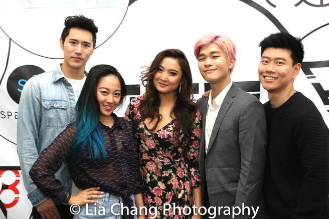 KPOP cast members Jinwoo Jung, Deborah Kim, Ashley Park, Jiho Kang and Joomin Hwang. Photo by Lia Chang
