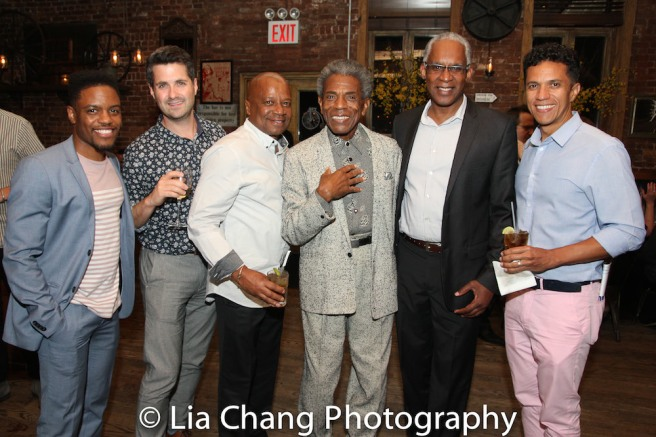 Jon Hill, Dan Marshall, Vincent Gregory, André De Shields, Vincent Parham and Robert Michael Johnson. Photo by Lia Chang