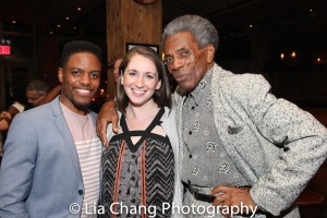 Jon Hill, Leah Cox and André De Shields. Photo by Lia Chang