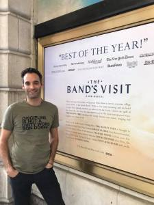Jonathan Raviv is making his Broadway debut in THE BAND'S VISIT at the Ethel Barrymore Theatre. Photo by Lia Chang