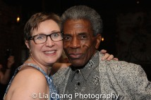 Kat West and André De Shields. Photo by Lia Chang