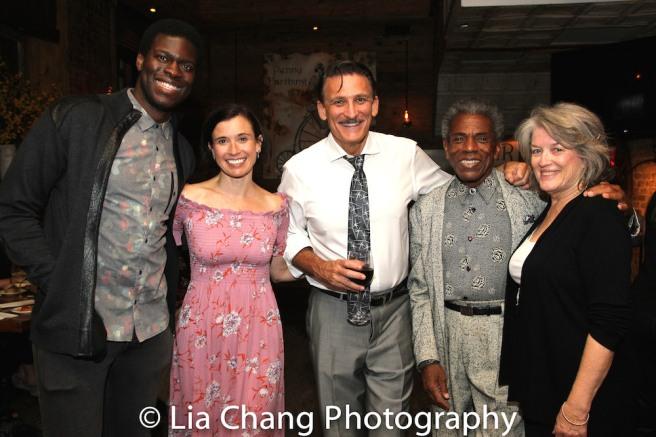 Kyle Scatliffe, Hannah Cabell, Bob Stillman, André De Shields and Cass Morgan. Photo by Lia Chang