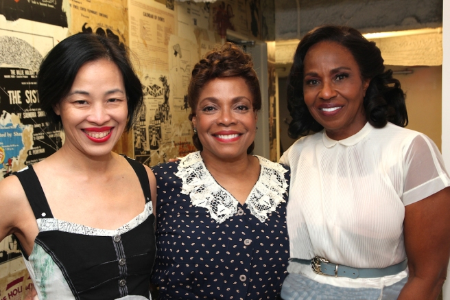 Lia Chang, Denise Burse and Pauletta Pearson Washington. Photo by Garth Kravits
