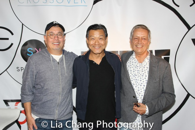 James Saito is flanked by Ma-Yi's Producing Artistic Director Ralph B. Peña and Executive Director Jorge Ortoll. Photo by Lia Chang