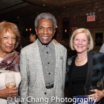 Suzanne Randolph, Andre De Shields and a guest. Photo by Lia Chang