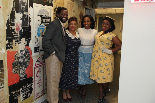Warner Miller, Denise Burse, Pauletta Pearson Washington and Maechi Aharanwa. Photo by Lia Chang