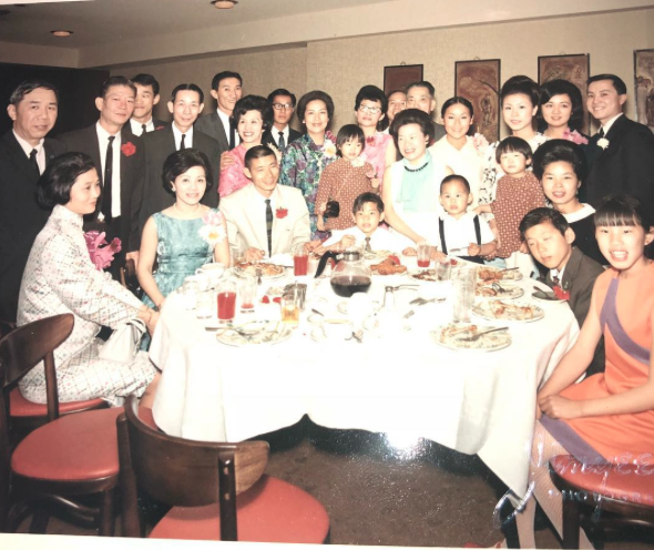 A family banquet at The Four Seasons in San Francisco.