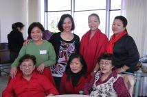 Nancy Lee Chang, her daughter Pauline Chang, Lia Chang, Joycelyn Lee, Tami Chang, Minerva Wong and Marissa Chang-Flores.