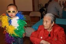 Miles Langandaon and his great grandmother Nancy Lee Chang in 2014