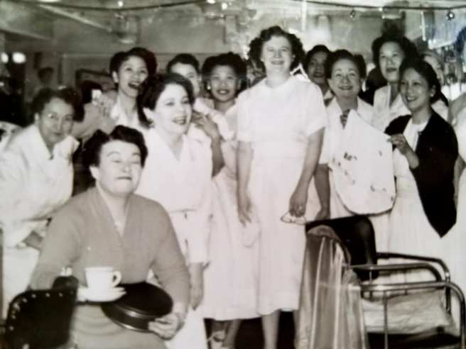 Nancy Lee Chang and her beautician friends at Emporium.