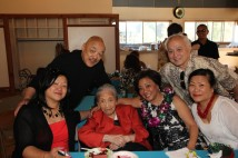 Nancy Lee Chang is flanked by her granddaughter Marrissa Chang-Flores, Russell Chang, daughter Pauline Chang, niece Joyce Lee and her nephew Roland Wong in April 2014.