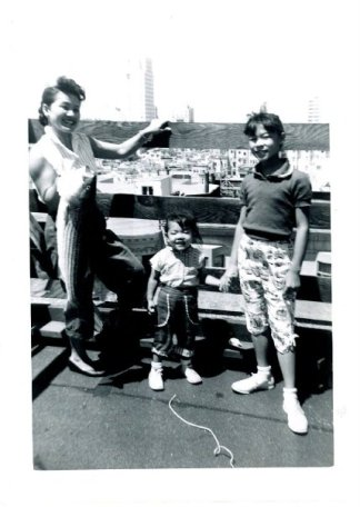 Nancy Lee Chang with her daughters Pauline and Beverly