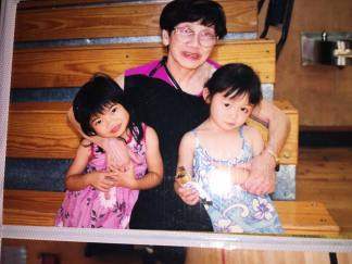 1999- Nancy Lee Chang with her granddaughter Leah Baptista and great granddaughter Asia Flores.