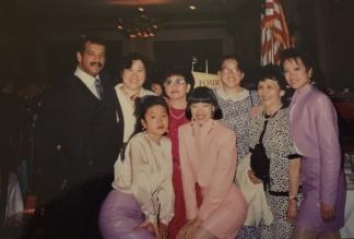 Paul and Judy Wong, Marissa Chang-Flores, Nancy Lee Chang, Lia Chang, Kat Ng, Minerva Wong and Tami Chang.