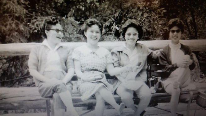 Sisters Electra Gee, Minerva Wong and Nancy Lee Chang with Ada Gee.