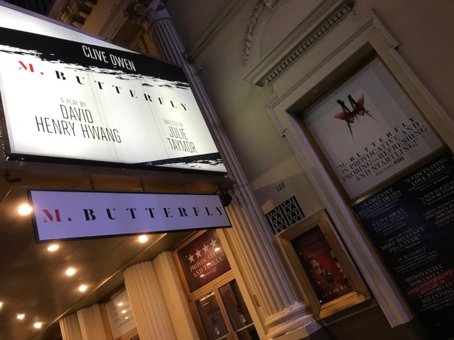 M. BUTTERFLY marquee. Photo by Lia Chang
