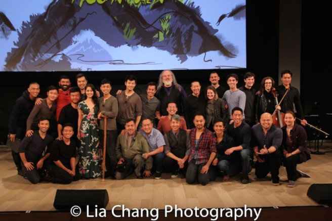 The Company of GOLD MOUNTAIN at TheTimesCenter in New York on October 21, 2017. Photo by Lia Chang