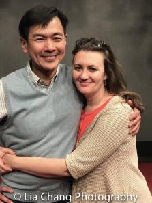 Joel de la Fuente with director Lisa Rothe. Photo by Lia Chang