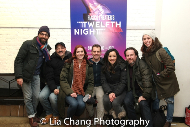 TWELFTH NIGHT castmembers Ben Steinfeld, Paco Tolson, Jessie Austrian, Noah Brody, Tina Chilip, Paul L. Coffey, Emily Young. Not pictured: Andy Grotelueschen, David Samuel, Javier Ignacio
