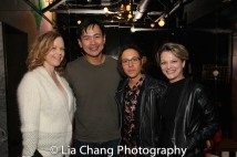 Emily Bergl, Joel de la Fuente, Ronete Levenson and Grace Connolly at the opening night of HOLD THESE TRUTHS. Photo by Lia Chang