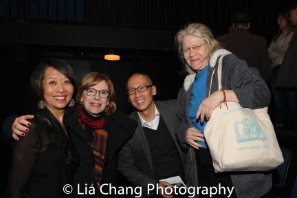 Jeanne Sakata, Barrington Stage Artistic Director Julianne Boyd, Francis Jue and Morgan Jenness. Photo by Lia Chang
