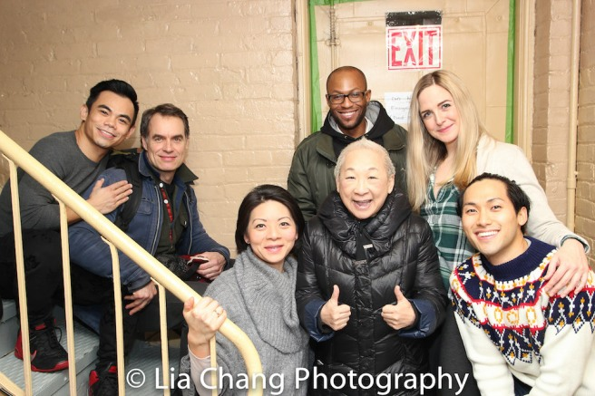 Jason Garcia Ignacio, Murray Bartlett, Celeste Den, Lori Tan Chinn, Manny Brown, Clea Alsip and Jin Ha. Photo by Lia Chang