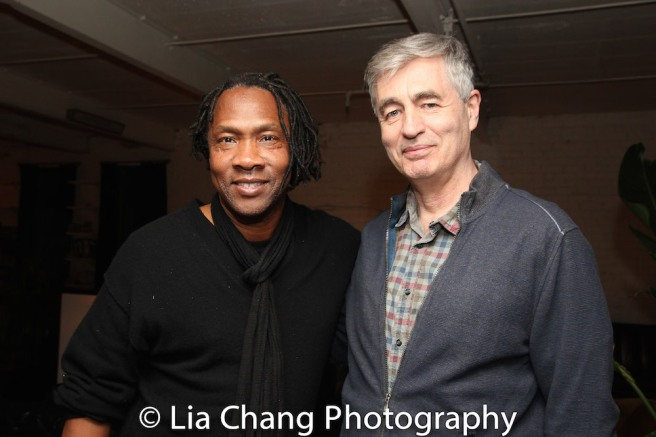 Award-winning filmmakers Roger Ross Williams and Steve James. Photo by Lia Chang