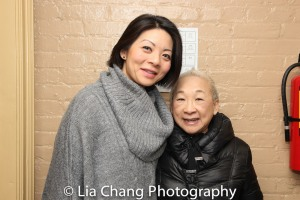 Two Comrade Chins: Celeste Den and Lori Tan Chinn. Photo by Lia Chang