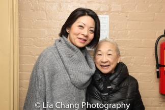 Two Comrade Chins: Celeste Den and Lori Tan Chinn. Photo by Lia Chang