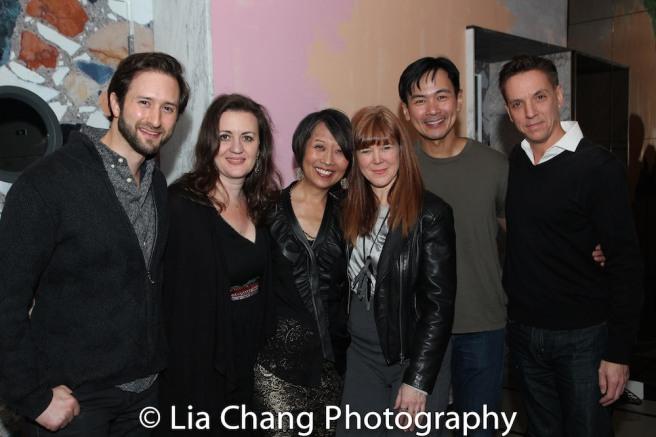 Jesse Liebman, Lisa Rothe, Jeanne Sakata, Kim Martin-Cotten, Joel de la Fuente, Michael Wurl Larson. Photo by Lia Chang